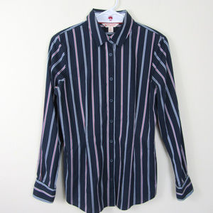 Brooks Brothers Red Fleece Stripe Blouse Size 6